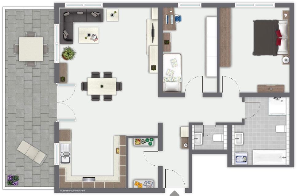 Immo Ackermann Terrassenhaus Waldshut Tiengen Wohnung 03